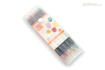 Akashiya Sai Watercolor Brush Pen - 5 Spring Color Set - AKASHIYA CA200-5VA