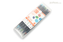 Akashiya Sai Watercolor Brush Pen - 5 Summer Color Set - AKASHIYA CA200-5VB