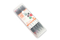 Akashiya Sai Watercolor Brush Pen - 5 Winter Color Set - AKASHIYA CA200-5VD