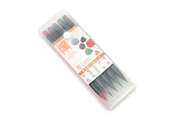 Akashiya Sai Watercolor Brush Pen - 5 Winter Color Set - AKASHIYA CA200-5VD