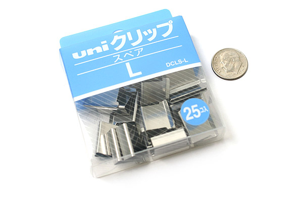 Uni Reusable Paper Clip - Size Large - Box of 25 - UNI DCLSL