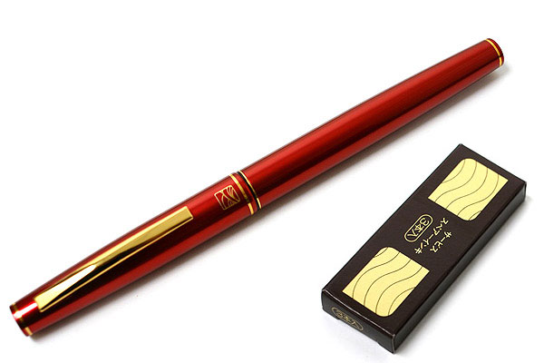 Kuretake No. 13 Fountain Brush Pen - Red Body - KURETAKE DT141-13C