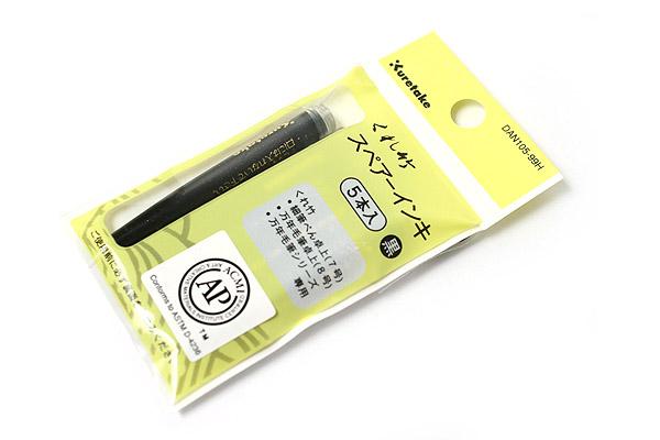 Kuretake Fountain Brush Pen Refill Cartridge - Pack of 5 - KURETAKE DAN105-99H