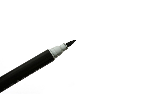 Kuretake No. 6 Double-Sided Brush Pen - Soft - Gray & Black Ink - KURETAKE DG141-6B