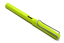 Lamy Fountain Pen - Safari Model - Fine Nib - Lime Green Body & Chrome Clip - LAMY L13LF
