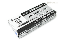Pilot Hi-Tec-C Gel Pen with Grip - 0.5 mm - Blue - 10 Pen Set - PILOT LHG-20C5-L BOX