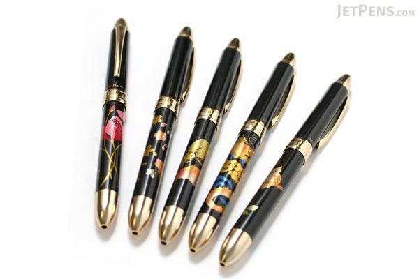 Platinum MWB-3000RM Modern Lacquer 2 Color 0.7 mm Ballpoint Multi Pen + 0.5 mm Pencil - Dragon Print - PLATINUM MWB-3000RM 2