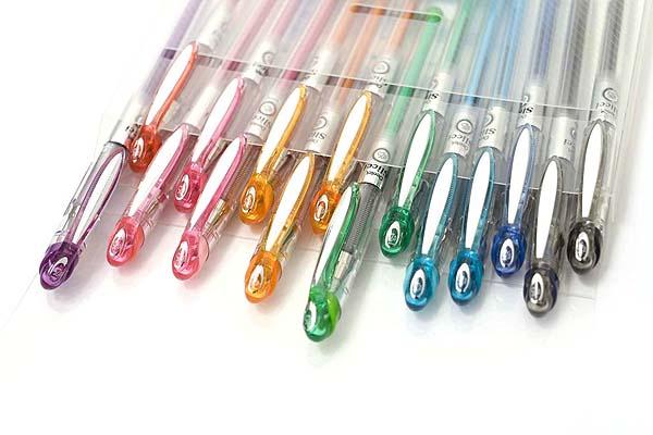 Pentel Slicci Gel Ink Pen - 0.25 mm - 5 Color Set - PENTEL BG202-5