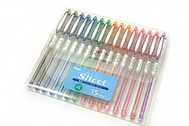 Pentel Slicci Gel Ink Pen - 0.4 mm - 15 Color Set - PENTEL BG204-15