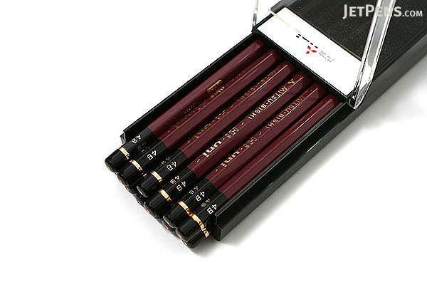 Uni Mitsubishi Hi-Uni Pencil - 4B - Box of 12 - UNI HU4B BUNDLE