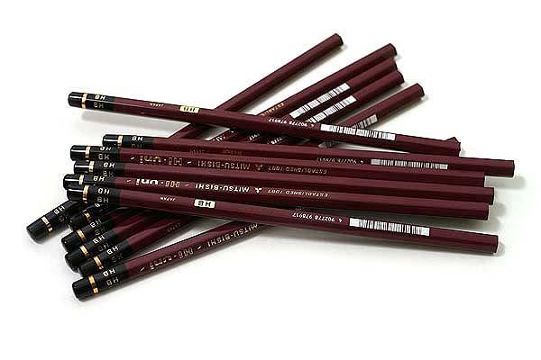 Uni Mitsubishi Hi-Uni Pencil - HB - Box of 12 - UNI HUHB BUNDLE