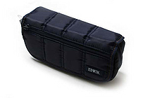 Kutsuwa Edwin Puffy Pencil Case - Blue - KUTSUWA 141EWBL