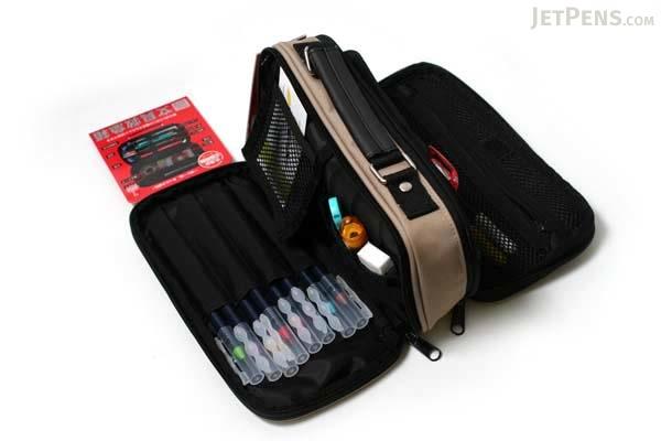 Kutsuwa Dr. Ion Mega Pencil Case - Beige - KUTSUWA 168DRBE