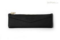 Kutsuwa Duplex Synthetic Leather Pencil Case - Black - KUTSUWA AK019A