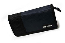 Kutsuwa Duplex Tri-Fold Pencil Case - Large - Blue - KUTSUWA AK235BL