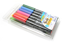 Kuretake Fudebiyori Pocket Color Brush Pen - 12 Color Set - KURETAKE CBK-55-12V