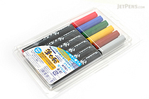 Kuretake Fudebiyori Brush Pen - 6 Color Set - KURETAKE CBK-55-6V