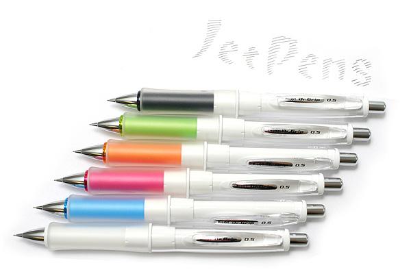 Pilot Dr. Grip G-Spec White Deco Shaker Mechanical Pencil - 0.5 mm - Black Grip - PILOT HDGS-60WR-B5