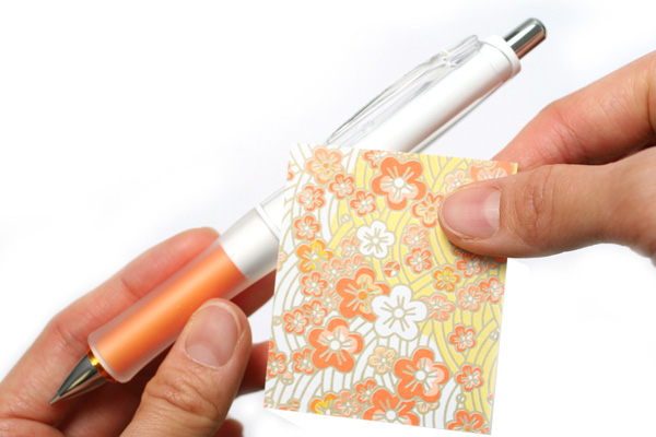 Pilot Dr. Grip G-Spec White Deco Shaker Mechanical Pencil - 0.5 mm - Orange Grip - PILOT HDGS-60WR-O5