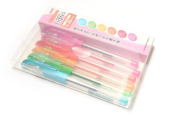 Uni-ball Signo UM-151 Gel Ink Pen - 0.28 mm - 6 Color Set - UNI UM151286C