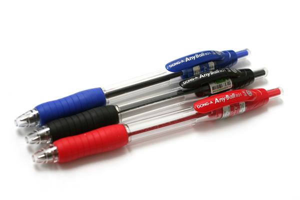 Dong-A Anyball Ballpoint Pen - 0.7 mm - Black - DONGA ANYBALL 07 BLACK