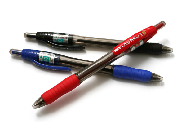 Dong-A Anyball Ballpoint Pen - 1.0 mm - Red - DONGA ANYBALL 10 RED