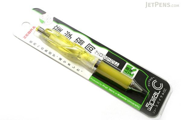 Zebra nuSpiral CC Ballpoint Pen - 0.7 mm - Yellow Grip - ZEBRA BA-51-CY
