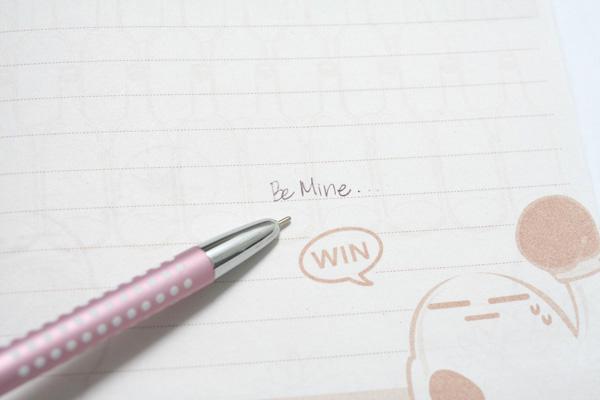 Ohto Needle-Point B-pocket Ballpoint Pen - 0.7 mm - Pink Body - OHTO NBP-350B PINK