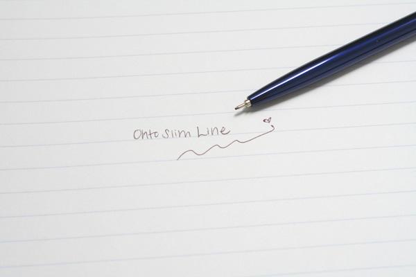 Ohto Needle-Point Slim Line 05 I Ballpoint Pen - 0.5 mm - Dark Blue Body - OHTO NBP-5A5 DARK BLUE