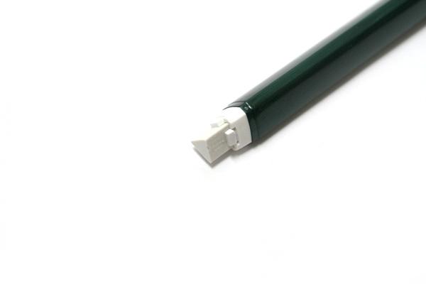 Pentel Ain Clic Knock Triangular Eraser with Clip - Metallic Green Body - PENTEL XZE15-MD