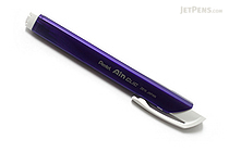 Pentel Ain Clic Knock Triangular Eraser with Clip - Metallic Purple Body - PENTEL XZE15-MV