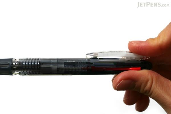 Zebra Clip-On Slim 4 Color 0.7 mm Ballpoint Multi Pen - Black Body - ZEBRA B4A5-BK