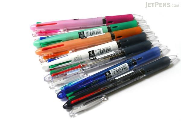Zebra Clip-On Slim 4 Color 0.7 mm Ballpoint Multi Pen - Pastel Orange Body - ZEBRA B4A5-WOR