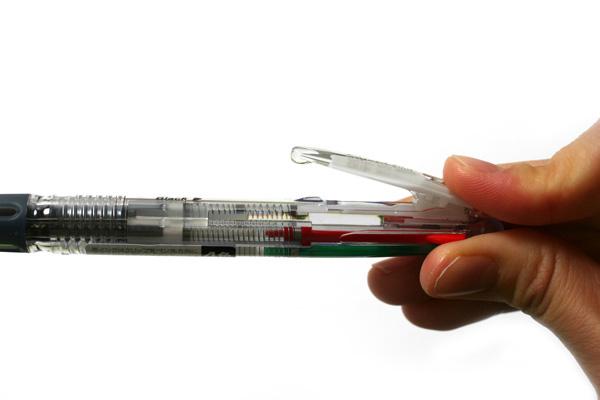 Zebra Clip-On Slim 4 Color 0.7 mm Ballpoint Multi Pen - Crystal Body - ZEBRA B4A5-C