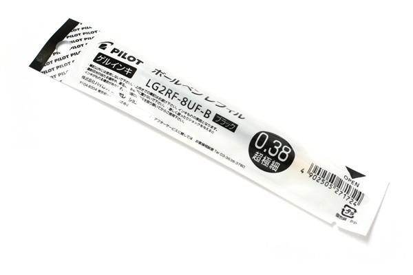 Pilot LG2RF Gel Pen Refill - 0.38 mm - Black - PILOT LG2RF-8UF-B