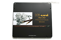 Uni Mitsubishi Hi-Uni Pencil Art Set - 10B to 10H - Box of 22 - UNI HUAS