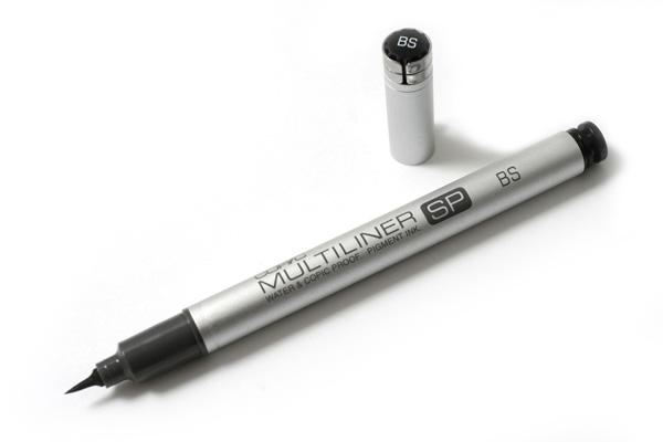 Copic Multiliner SP Pen - Brush Tip - Black - COPIC MLSPBP