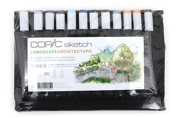 Copic Sketch Marker - 24 Color Specialty Wallet - Landscape Architecture - COPIC SLAWAL