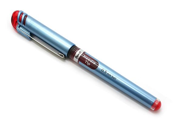Pentel EnerGel Needle-Point Liquid Ink Pen - 0.5 mm - Red - PENTEL BLN15-B