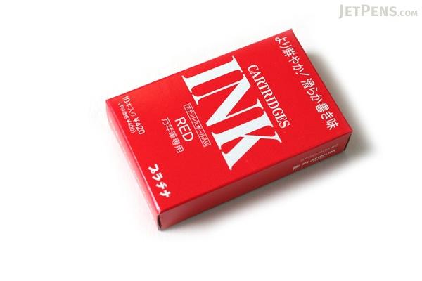 Platinum Red Ink - For Fountain Pen - 10 Cartridges - PLATINUM SPSQ-400 2