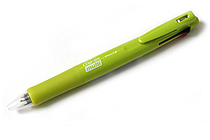 Zebra Clip-On Multi F Series 4 Color 0.7 mm Ballpoint Multi Pen + 0.5 mm Pencil - Active Green Body - ZEBRA B4SA1-ACG
