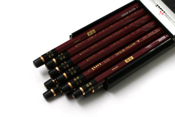 Uni Mitsubishi Hi-Uni Pencil - 8B - Box of 12 - UNI HU8B BUNDLE