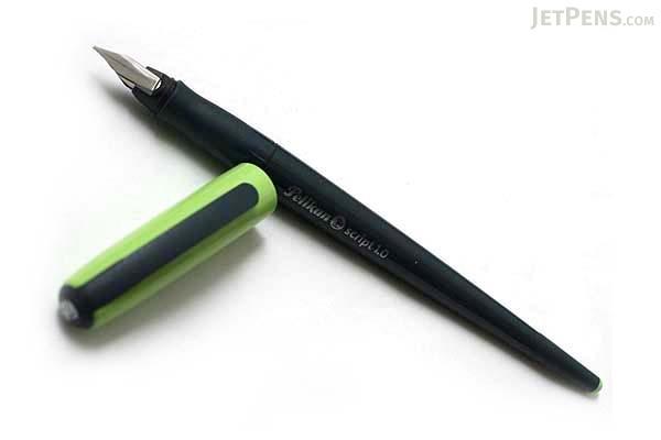 Pelikan Script Italic Calligraphy Pen - 1.0 mm Nib Width - Green Cap - PELIKAN 940841