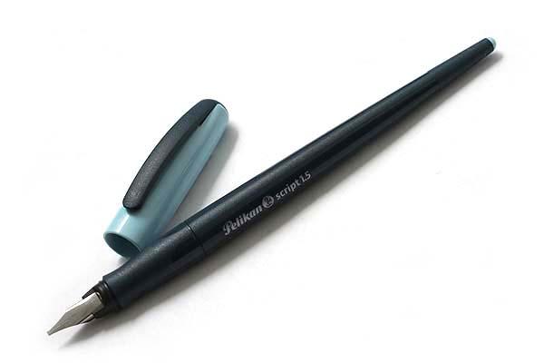 Pelikan Script Italic Calligraphy Pen - 1.5 mm Nib Width - Blue Cap - PELIKAN 940858