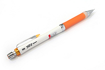 Uni Alpha Gel Slim Mechanical Pencil - 0.3 mm - White Body - Orange Grip - UNI M3807GG1PW.4