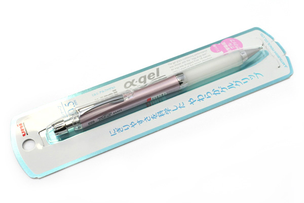 Uni Alpha Gel Slim Mechanical Pencil - 0.5 mm - Noble Pink Body - White Grip - UNI M5807GG1PN.13