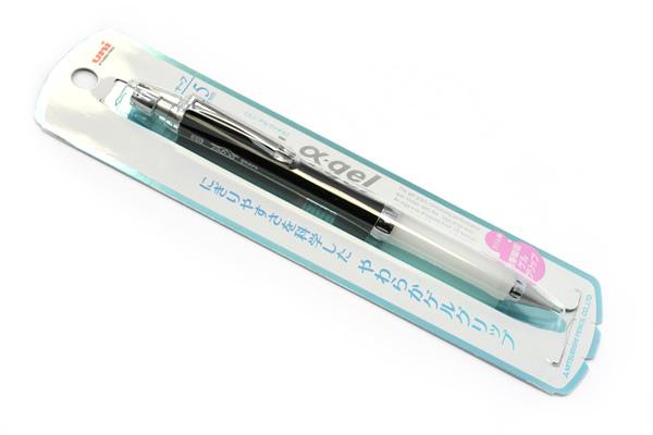 Uni Alpha Gel Slim Mechanical Pencil - 0.5 mm - Pure Black Body - White Grip - UNI M5807GG1PP.24
