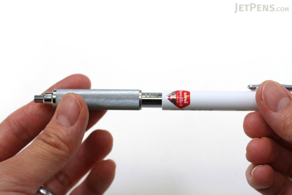 Uni Shift Pipe Lock Drafting Pencil - Color Body Series - 0.5 mm - White Body with Smoke Accent - UNI M51010.1