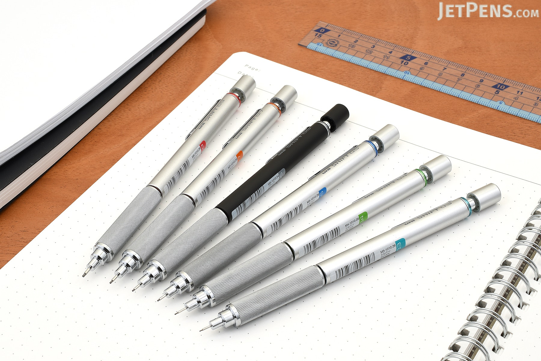 Uni Shift Pipe Lock Drafting Pencil - 0.5 mm - Silver Body with Blue Accent - UNI M51010.26
