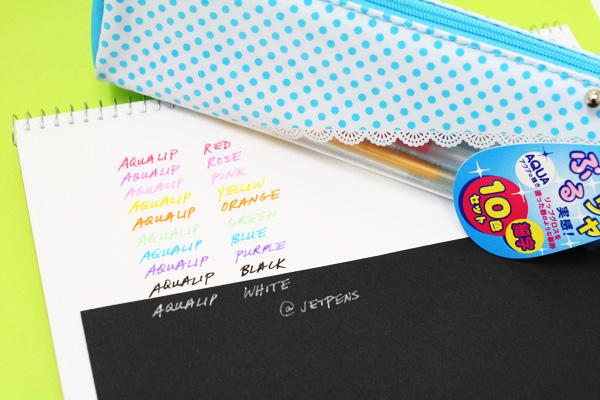 Sakura Aqualip Gel Ink Pen - Fine Tip - 10 Color Set  - SAKURA PGB-10GS